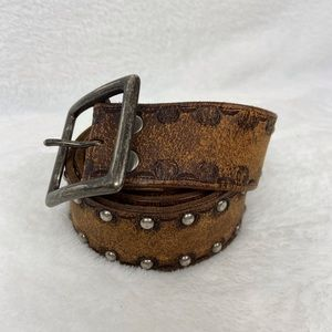 AE Distressed Studded Leather Belt